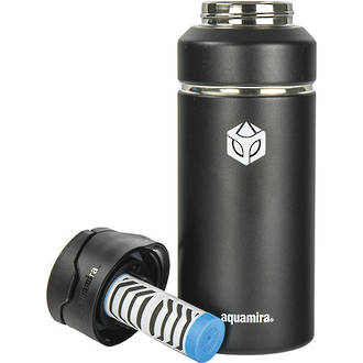 Aquamira Shift Insulated Water Filter Bottle, 32 Oz, BLU IV, Black - 00621