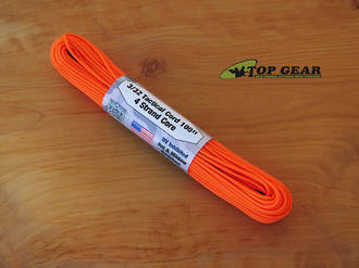 Atwood Rope Manufacturing 4 Strand Tactical Cord 275 lbs test - Neon Orange 33218