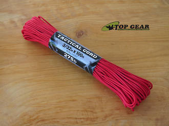 Atwood Rope Manufacturing 4 Strand Tactical Cord 275 lbs test, Red - 33203