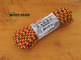 Atwood Rope Manufacturing 550 Paracord Rope, Fireball 55035