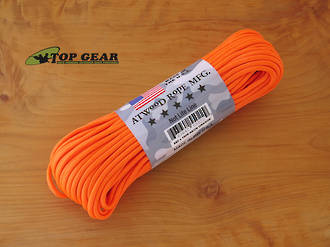 Atwood Rope Manufacturing 550 Paracord Rope, Neon Orange - 55022