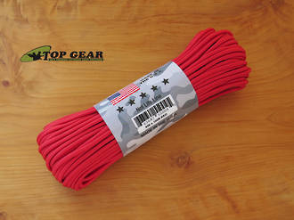 Atwood Rope Manufacturing 550 Paracord Rope, Red 55004