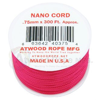 Atwood Rope Manufacturing Nano Cord - Hot Pink 400021