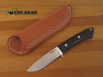 Bark River Classic Drop-Point Hunter Hunting Knife with Micarta Handle - 02-125M-BC