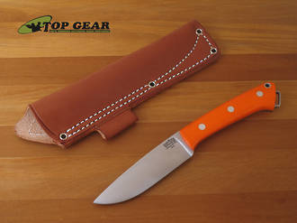 Bark River Fox River Hunter Knife with Orange Micarta Handle 130M-OR