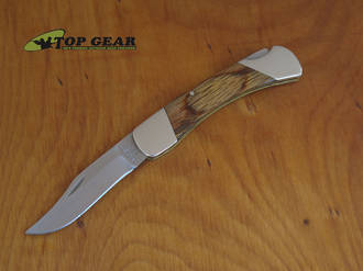 Bear & Son Cutlery 3.75 Inch Oak Wood Lockback Knife Oak - 205