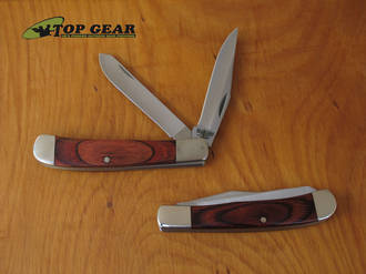 Bear & Son Trapper Pocket Knife with Rosewood Handle - 254R
