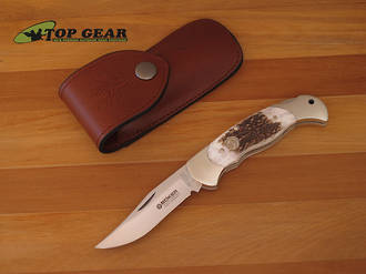 Boker Classic Lockback Stag Hunter Knife - Stag 112004ST