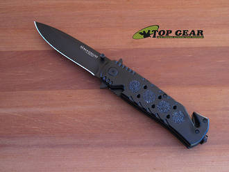 Boker Magnum Dark Lifesaver Tactical Rescue Knife - 01LL200
