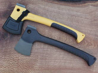 Buck Camp Axe with Molded Nylon Sheath - 0757 Black or 0757Y Yellow