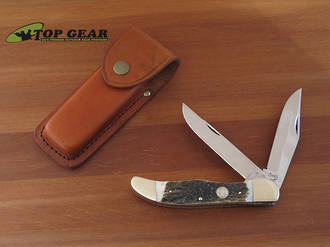 Buck Creek Folding Hunter Knife with Stag Handle BC- IS069 DS