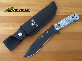 Buck Reaper Bushcraft Knife, Viper Snakeskin Pattern Handle - 620CMS15-B