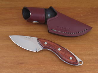 Buck Mini Alpha Hunter Drop-Point Knife with Rosewood Handle - 0196RWS-B