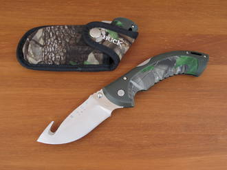 Buck Folding Omni Hunter 12 Pt Avid Guthook Knife - 399CMG-B