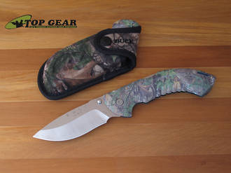 Buck Omni Hunter 12 Pt Folding Hunting Knife, Camo Xtra Green - 0397CMS20-B