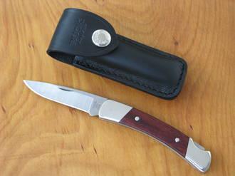 Buck Squire Folding Knife with Leather Sheath - 501RWS-B