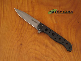 CRKT M16-01S Carson Spear-Point Pocket Knife, Black Handle - M16-01S
