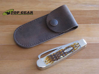 Case Cutlery Soft Leather Knife Pouch, Brown - 50003