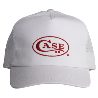 Case XX Adjustable Baseball Cap White with Red Case Logo - 09117