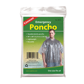 Coghlan's Emergency Poncho with Hood - 9171
