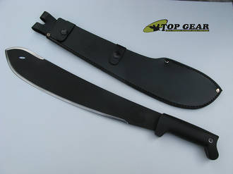 Condor Ultra-Black Bolo Machete with Leather Sheath - CTK2094B