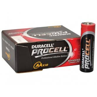Duracell Procell Professional Alkaline Batteries AA, 10-Pack - 3Y3I11
