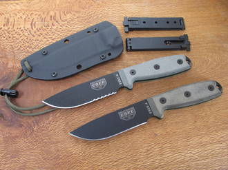 Esee 4P Knife with Kydex Sheath and Molle Lock - Plain or Serrated Edge