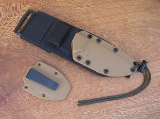 Esee 3 Complete Jump Proof Molle Sheath System, Coyote Brown - ESEE-20SS