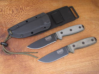 Esee 4P Knife with Sheath System - Plain or Serrated Edge