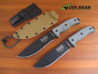 Esee 6P Fixed Blade Bushcraft Knife with Plain or Serrated Edge