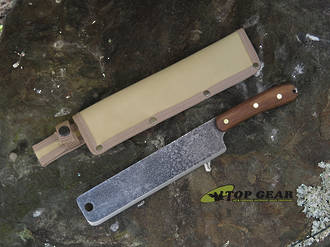 Esee Expat 9 Inch Libertariat Machete with Walnut Wood Handle - EX-PAT-M9