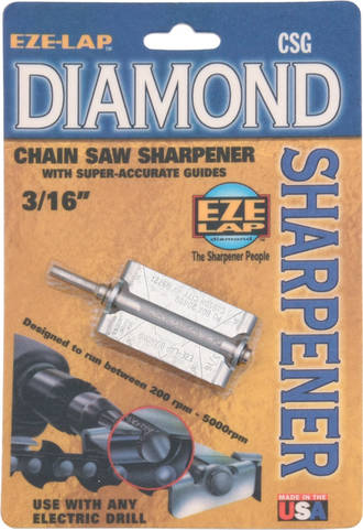 Eze-Lap Diamond Chainsaw Sharpener - 3/16, 5/32 or 7/32
