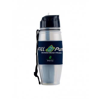 Fill2Pure Travel Safe Water Bottle with Seychelle Advanced Filtration System - 800 ml