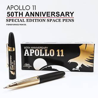 Fisher Space Pen 50th Anniversary Apollo 11 Bullet Pen, Special Edition, Black - 400BGFGGCL-50