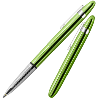 Fisher Space Pen Bullet Pen with Stainless Steel Clip, Lime Green - 400LGCL