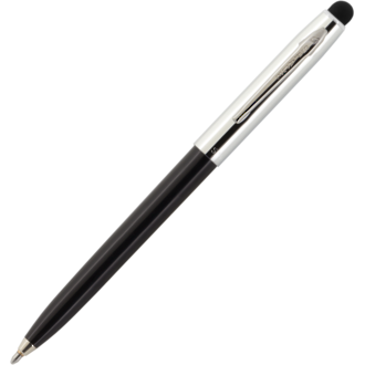 Fisher Space Pen Cap-O-Matic Pen with Stylus - Black Barrel/Silver Cap