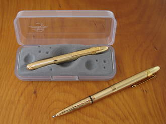 Fisher Space Pen Bullet Pen Gold with Clip - 400GGCL