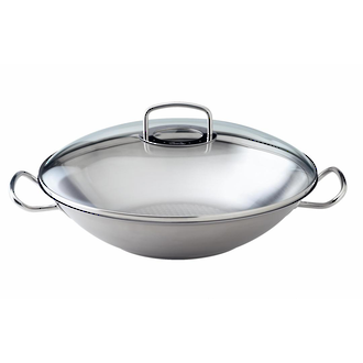 Fissler Original Pro Collection Wok with Glass Lid - 84 826 35 000