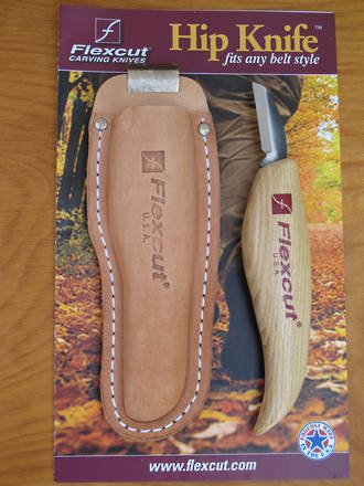 Flexcut Hip Knife Carving Knife with Leather Belt Sheath - KN30