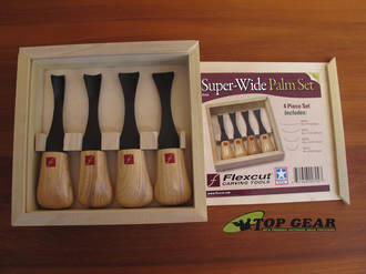 Flexcut Super-Wide Palm Carving Set with 4 Tools - FR704