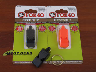 Fox 40 Classic Safety Pealess Whistle - 9902-0000 Black or 9902-0300 Orange