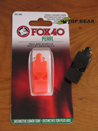 Fox 40 Pearl Pealess Safety Whistle - Black or Orange