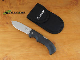Gerber Gator Folding Drop-Point Hunting Knife, 154CM Stainless Steel - 6064N