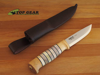 Helle Odel Hunting Knife - Birch and Antler Handle 15