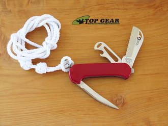 Ibberson Heavy Duty Shackler / Rigging Knife with Red Handle - W3007/1P