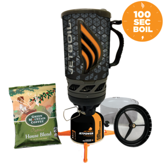 Jetboil Flash Java Kit Personal Cooking System with Coffee/Tea Plunger, Java Geo - FLJVGO