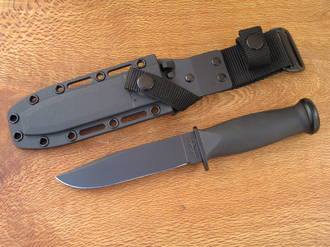 Ka-Bar Mark I Utility Knife Black - Kydex Sheath - 2 Models