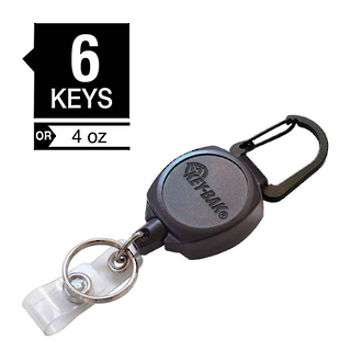 Key-Bak Sidekick Professional Duty Self Retracting ID Badge and Key Reel - 0KB1-0A21