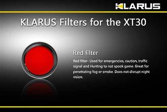 Klarus Filter for XT30 Tactical LED Torch - Red