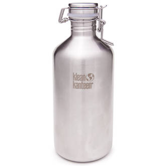 Klean Kanteen Insulated Growler, 64 oz. (1.9L) with Swing Cap, Brushed Stainless